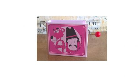 The Pink Panther Hand Cranked Musical Box